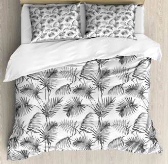 Palm Leaf Botanic Island Duvet Cover Set