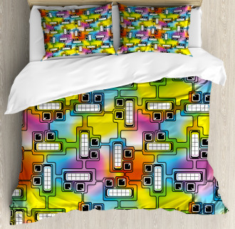 Fun Characters Pattern Duvet Cover Set