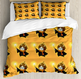 Cartoon Costume and Wand Duvet Cover Set