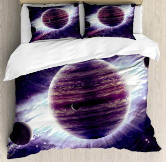 Outer Space Planets Mars Duvet Cover Set