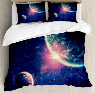 Outer Space Mars Planets Duvet Cover Set