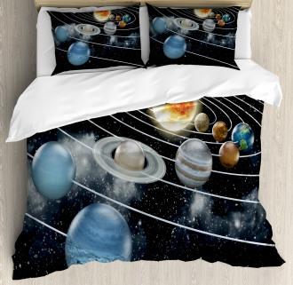 Solar System Sun Planets Duvet Cover Set