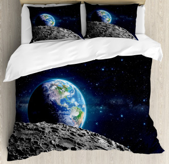 Moon Surface Luna Design Duvet Cover Set