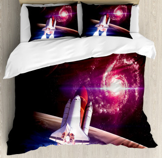 Milky Way Galactic Theme Duvet Cover Set