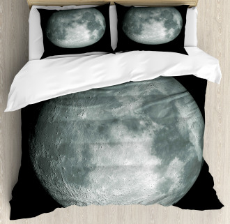 Trippy Moon Planet Space Duvet Cover Set