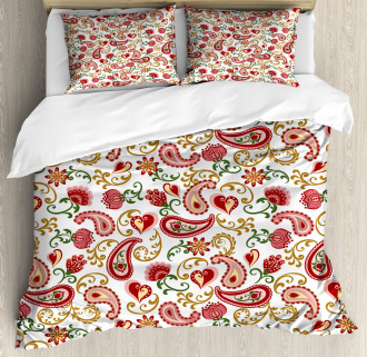 Style Rose Motif Duvet Cover Set