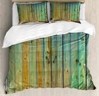 Rustic Old Wooden Gate Duvet Cover Set