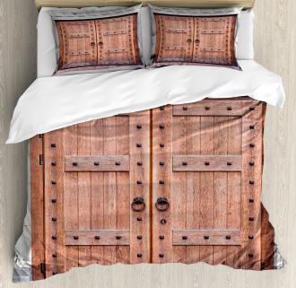 Antique French Wood Door Duvet Cover Set