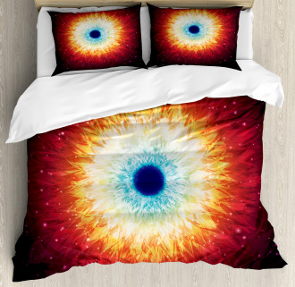 Galaxy with Magical Stars Duvet Cover Set