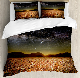Star Clusters in Twilight Duvet Cover Set