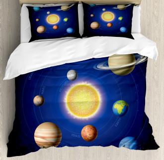 Solar System with Planets Duvet Cover Set