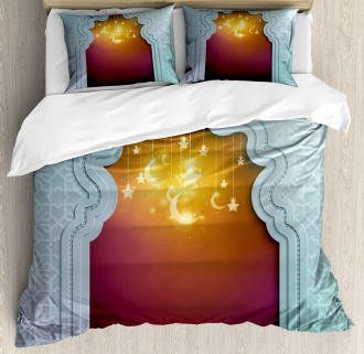 Arabic Signs and Stars Duvet Cover Set
