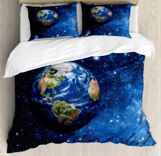 Planet Earth Solar System Duvet Cover Set