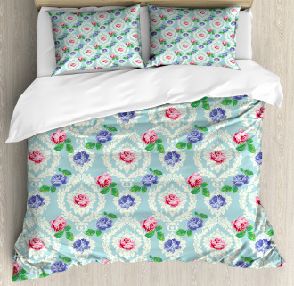 Baroque Colored Roses Duvet Cover Set