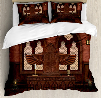Temple Rituals Tradition Duvet Cover Set