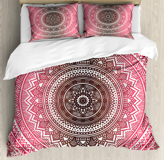 Ombre Zen Ethnic Duvet Cover Set