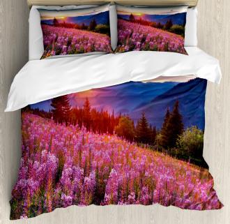 Spring Mountains Floral Duvet Cover Set