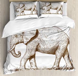 Safari Wild Animals Art Duvet Cover Set