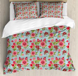 Oriental Bud Leaf Duvet Cover Set