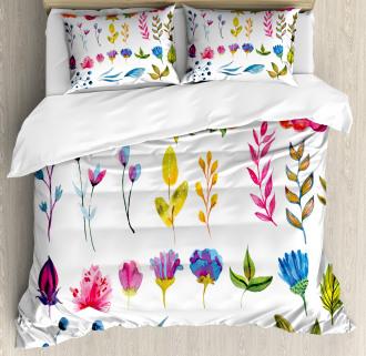 Watercolor Garden Design Duvet Cover Set