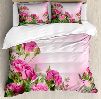 Spring Season Roses Buds Duvet Cover Set