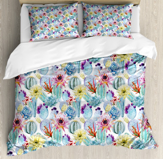 Desert Sand Wild Flowers Duvet Cover Set