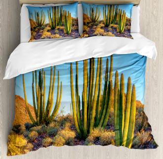 Mountain Cactus Photo Duvet Cover Set