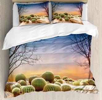 Cactus Balls on Mountain Duvet Cover Set
