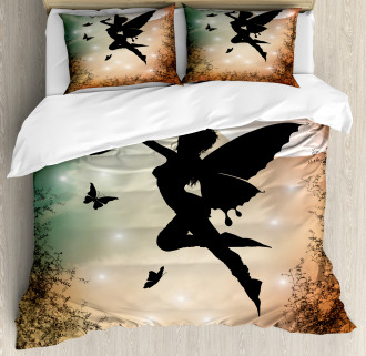 Fairy and Butterfly Wing Duvet Cover Set