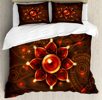 Beams and Diwali Wishes Duvet Cover Set