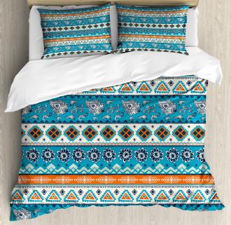 Floral Aztec Art Pattern Duvet Cover Set