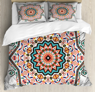Abstract Sun Aztec Style Duvet Cover Set