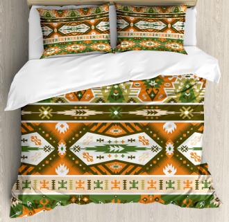 Aztec Mayan Style Stripe Duvet Cover Set