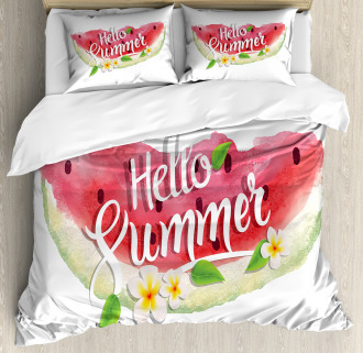 Summer Welcome Quote Duvet Cover Set