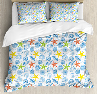 Marine Themed Starfish Duvet Cover Set