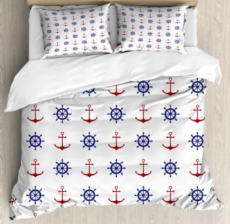 Anchors and Ship Wheels Duvet Cover Set