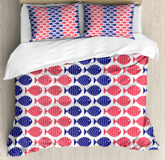 Nautical Fish Theme Design Duvet Cover Set