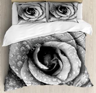 Retro Romance Rose Petal Duvet Cover Set