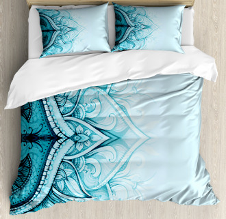 Ethnic Ornamental Lace Duvet Cover Set