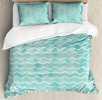 Ocean Sea Wave Pattern Duvet Cover Set