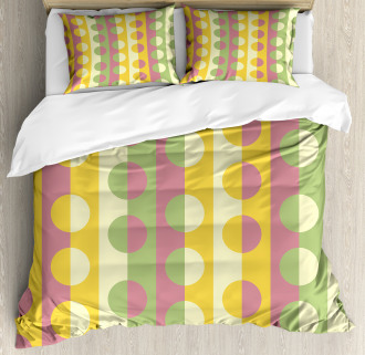 Retro Geometric Stripe Duvet Cover Set