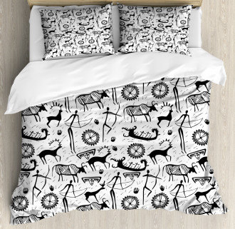 African Pattern Animal Duvet Cover Set