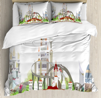 Mega City Urban Scenery Duvet Cover Set