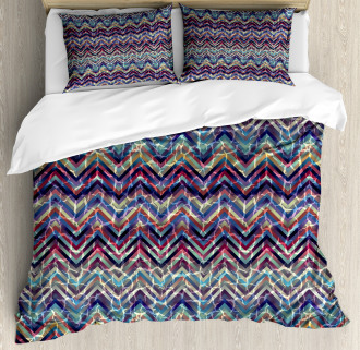 Abstract ZigZag Chevron Duvet Cover Set