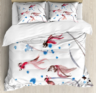 Traditional Ink Painting Duvet Cover Set