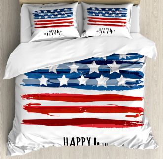 Artistic US Flag Duvet Cover Set