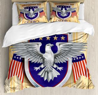 American Bald Eagle Duvet Cover Set