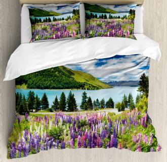 Lake Floral Petals Duvet Cover Set