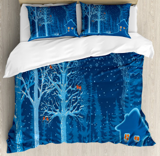 Winter Scenery with Show Duvet Cover Set