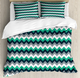 Symmetric Arrows Stripe Duvet Cover Set